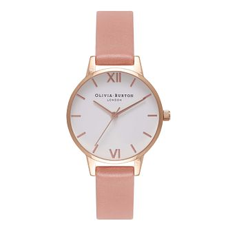 Olivia Burton Pink Dial Ladies' Rose Gold Plated Watch - Product number 9419144