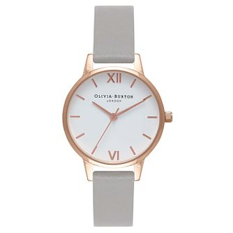 Olivia Burton Grey Dial Ladies' Rose Gold Plated Watch - Product number 9419152