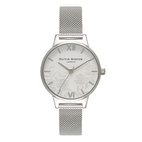 Olivia Burton Lace Detail Ladies' Stainless Steel Watch - Product number 9419209