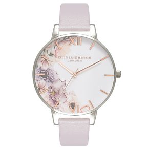 Olivia Burton Watercolour Florals Silver Tone Metal Watch - Product number 9419314