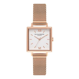 Olivia Burton Midi Square Rose Gold Metal Plated Watch - Product number 9419330