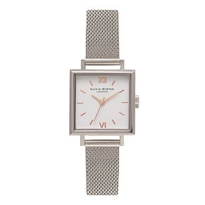 Olivia Burton Midi Square Silver Tone Metal Watch - Product number 9419349