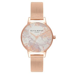 Olivia Burton Abstract Florals Ladies Rose Gold Plated Watch - Product number 9419365