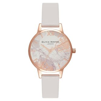 Olivia Burton Abstract Florals Ladies' Pink Strap Watch - Product number 9419373