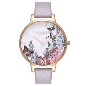 Olivia Burton Grey Winter Ladies' Rose Gold Plated Watch - Product number 9419411