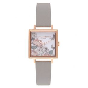 Olivia Burton Signature Rose Gold Metal Plated Square Watch - Product number 9419454