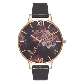 Olivia Burton Dark Bouquet Rose Gold Metal Plated Watch - Product number 9419462