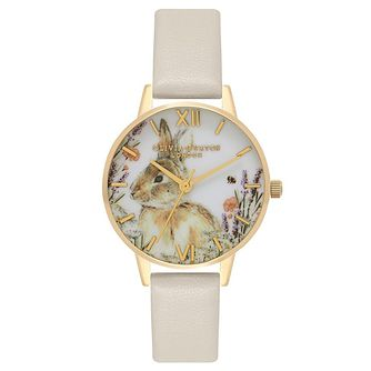 Olivia Burton Yellow Gold Metal Plated Rabbit Vegan Watch - Product number 9419470