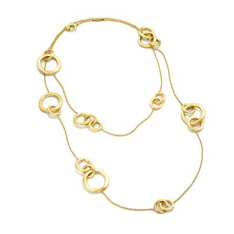 Marco Bicego 18ct yellow gold link double layer necklace - Product number 9420762