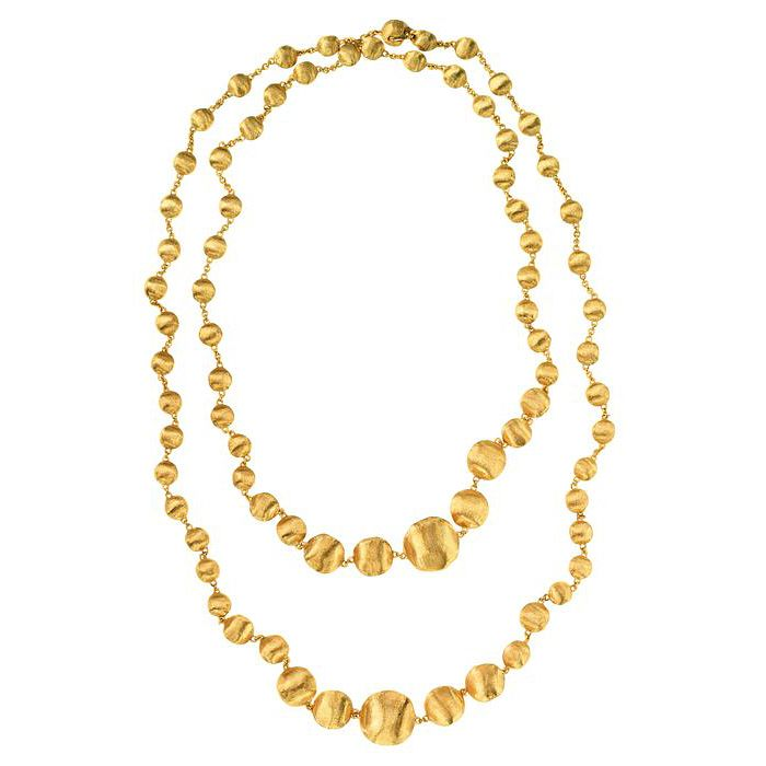 Marco Bicego 18ct yellow gold double layer necklace - Product number 9420851