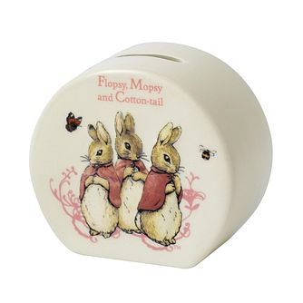 Peter Rabbit Flopsy, Mopsy & Cotton-tail Ceramic Money Bank - Product number 9422560