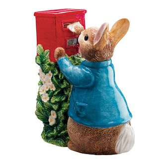 Peter Rabbit Posting A Letter Ceramic Earthenware Money Bank - Product number 9422609
