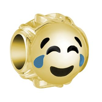 Chamilia Yellow Gold Plated Crying Laugh Emoticon Charm - Product number 9425233