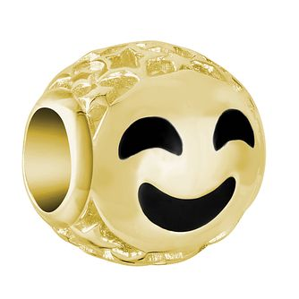 Chamilia Yellow Gold Plated Smiley Face Emoticon Charm - Product number 9425276