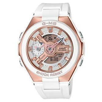 Casio Baby-G G-MS Ladies' White Resin Strap Watch - Product number 9427627