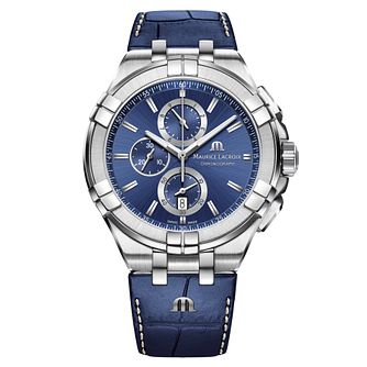 Maurice Lacroix Aikon Men's Blue Chronograph Strap Watch - Product number 9429883