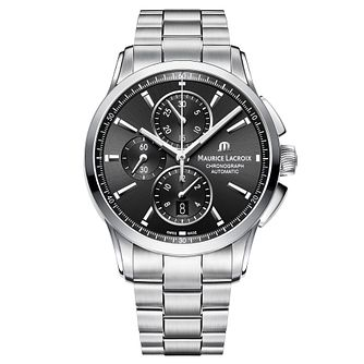 Maurice Lacroix Pontos Men's Black Chronograph Watch - Product number 9430547