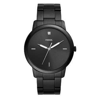 Fossil The Minimalist Black Stainless Steel Bracelet Watch - Product number 9430830