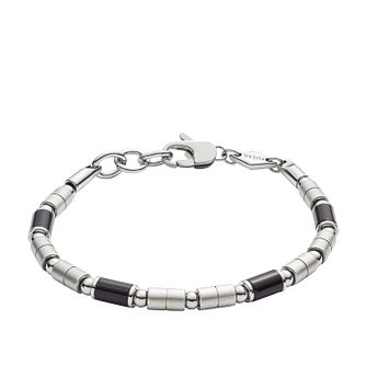 Fossil Black Agate Stainless Steel Bracelet - Product number 9430881