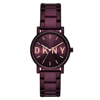 DKNY Ladies' Purple Stainless Steel Bracelet Watch - Product number 9431276