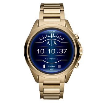Armani Exchange Gold Tone Connected Hybrid Smartwatch - Product number 9431381