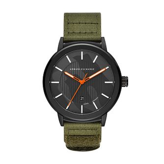 Armani Exchange Green Nylon Strap Watch - Product number 9431438