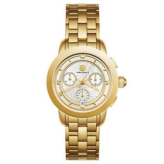 Tory Burch Ladies' Yellow Gold Tone Chronograph Watch - Product number 9432795