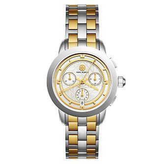 Tory Burch Ladies' Two Colour Yellow Gold Tone Watch - Product number 9432809
