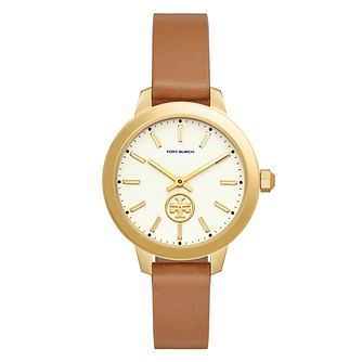 Tory Burch Collins Ladies' Yellow Gold Tone Strap Watch - Product number 9432876