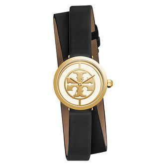 Tory Burch Reva Ladies' Gold Tone Black Double Wrap Watch - Product number 9433260