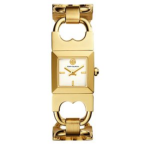 Tory Burch Gemini Ladies' Yellow Gold Tone Bracelet Watch - Product number 9433384