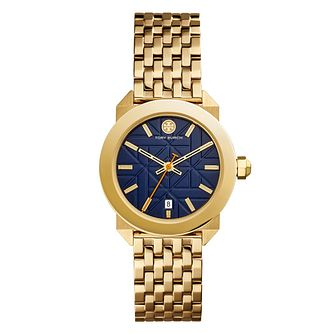 Tory Burch Whitney Ladies' Gold Tone Navy Bracelet Watch - Product number 9433449
