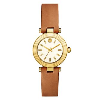 Tory Burch Classic T Ladies' Yellow Gold Tone Strap Watch - Product number 9433562