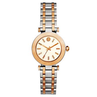 Tory Burch Classic T Ladies' Two Colour Rose Tone Watch - Product number 9433767