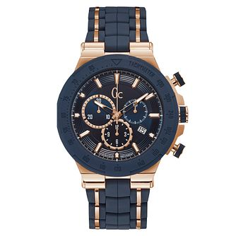 Gc Structura Men's Blue Silicone Strap Watch - Product number 9433880