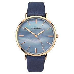 Sekonda Editions Ladies' Blue Strap Watch - Product number 9434127