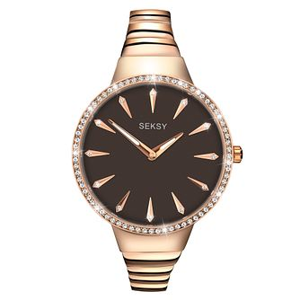 Seksy Ladies' Rose Gold Plated Bracelet Watch - Product number 9434232