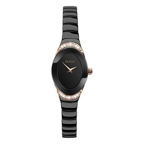Seksy Ladies' Black Plated Bracelet Watch - Product number 9434275