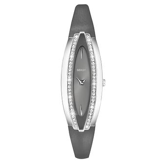 Seksy Ladies' Grey Leather Strap Watch - Product number 9434283
