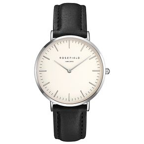 Rosefield Bowery Ladies' Black Leather Strap Watch - Product number 9435867