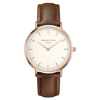 Rosefield Bowery Ladies' Brown Leather Strap Watch - Product number 9435875
