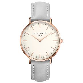 Rosefield Bowery Ladies' Grey Leather Strap Watch - Product number 9435905