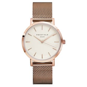 Rosefield Mercer Ladies' Rose Gold Mesh Bracelet Watch - Product number 9436006