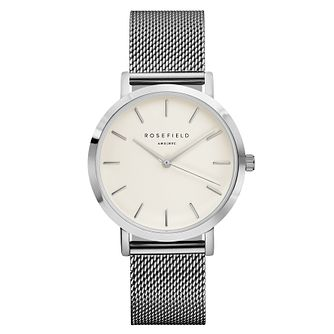 Rosefield Mercer Ladies' Silver Mesh Bracelet Watch - Product number 9436014