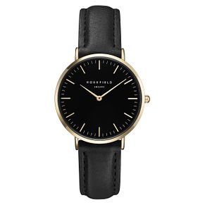 Rosefield Tribeca Ladies' Black Leather Strap Watch - Product number 9436022