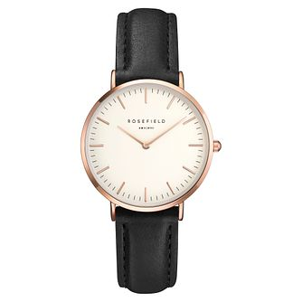 Rosefield Tribeca Ladies' Black Leather Strap Watch - Product number 9436049