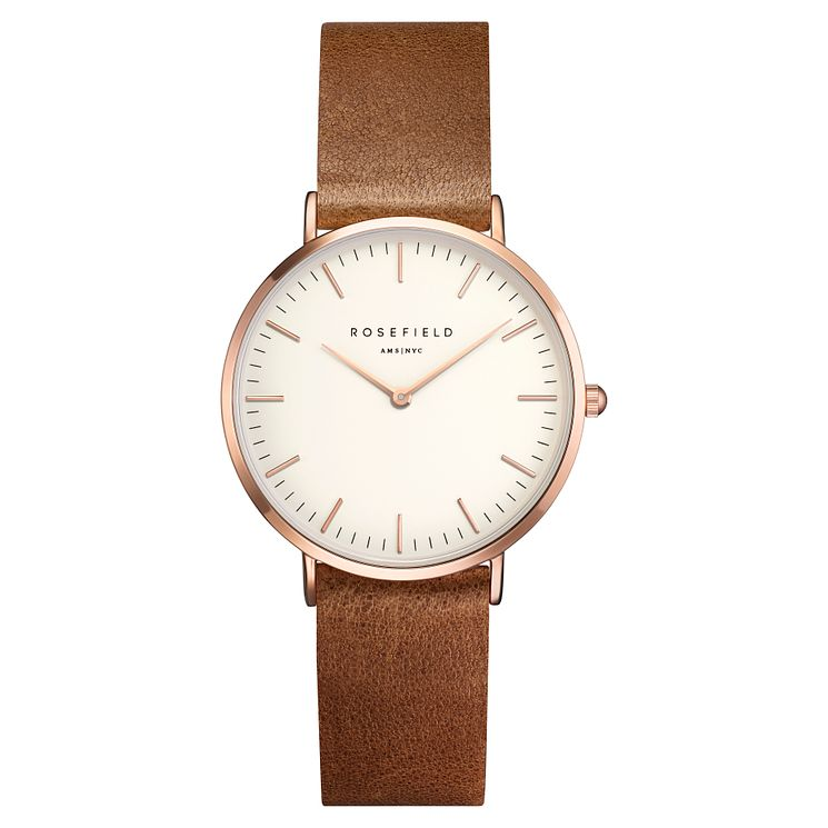 Rosefield Tribeca Ladies' Brown Leather Strap Watch - Product number 9436057