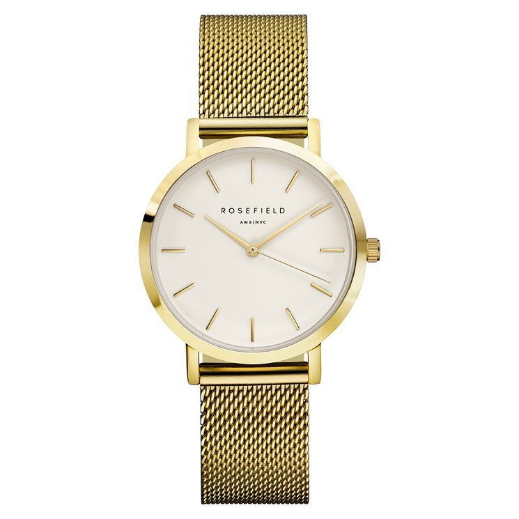 Rosefield Tribeca Ladies' Gold Mesh Bracelet Watch - Product number 9436073