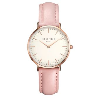 Rosefield Tribeca Ladies' Pink Leather Strap Watch - Product number 9436162