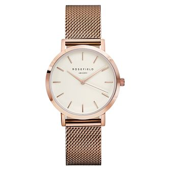 Rosefield Tribeca Ladies' Rose Gold Mesh Bracelet Watch - Product number 9436170